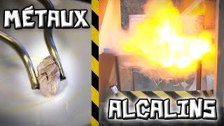 Les alcalins : ces métaux qui explosent au contact de l'eau