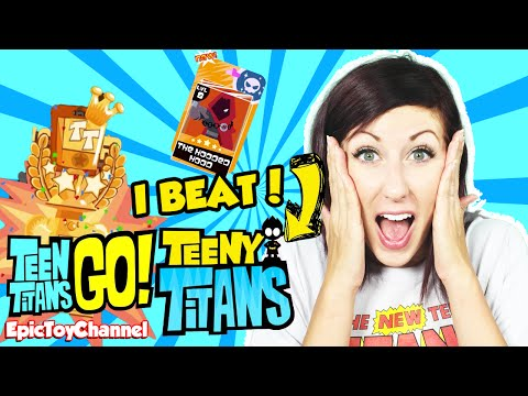 TEEN TITANS GO! Teeny Titans App I Beat It & I Can't Believe It Raven + Hooded Hood Epic Toy Channel