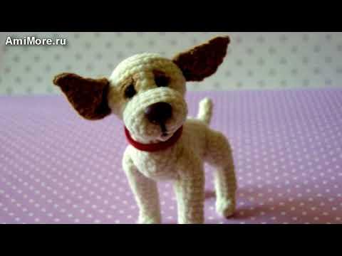 Амигуруми: схема Собачки на ладошке. Игрушки вязаные крючком - Фрее крочет паттернс.