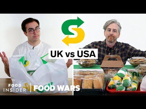 US vs UK Subway   Food Wars