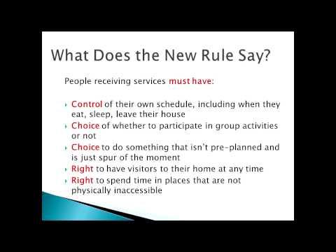 WI BPDD: Federal Home and Community Based Setting Rule