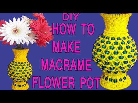 HOW TO MAKE Simple Macrame Handmade Flower Pot Design #2 | FULL STEP BY STEP VIDEO TUTORIAL