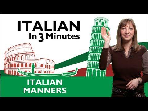 Manieren in Italien
