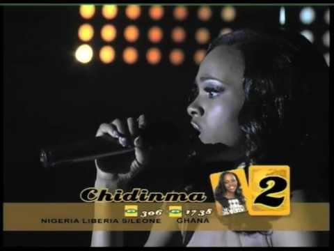 Chidinma Ekile performing Whitney Houston's 'I Will Always Love You'