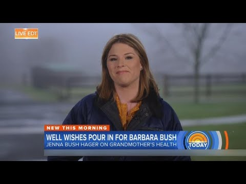 Jenna Bush Tears Up on 'Today' Talking About Grandma Barbara Bush