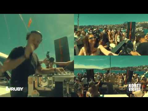 DJ Ruby Live Video set at Sydney Harbour Australia, Norti Vikings Boat Party  20-01-18