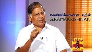 KELVIKKENNA BATHIL - G. Ramakrishnan Promo Thanthi TV