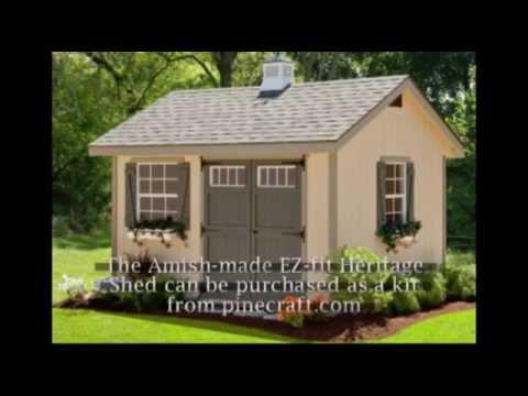 Amish Built EZ-fit Heritage Shed Kit