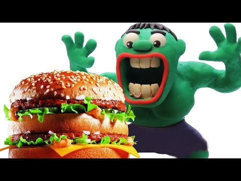 OLD MACDONALD HAD A FARM 💖 GREEN BABY EAT HUMBURGER 💖 Nursery Rhymes & Kids Song