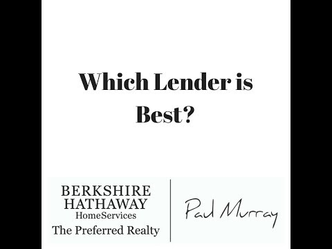 Which Lender is Best