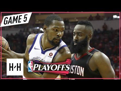Kevin Durant vs James Harden Full Game 5 Highlights