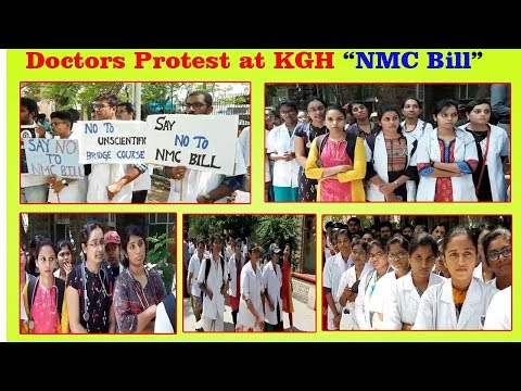 Doctors Protest at KGH Against NMC Bill in Visakhapatnam,Vizagvision...