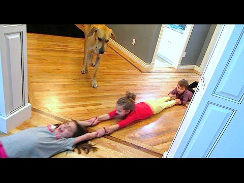 DRAGGING 5 KIDS ACROSS THE FLOOR!