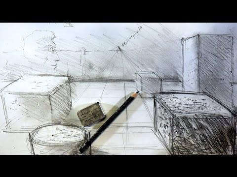 ganz einfach zeichnen lernen 7: Tiefe und Räumlichkeit in Skizzen