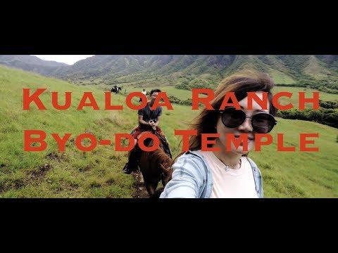Kualoa Ranch Horseback Riding, Byodo-In Temple, Hawaii Oahu Honolulu Vlog