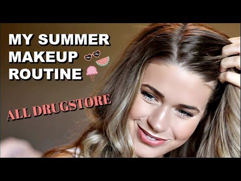 ALL DRUGSTORE MAKEUP ROUTINE   GRWM & MY 2 YR OLD видео