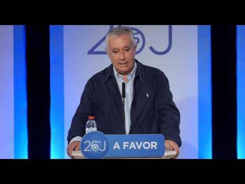 Javier Arenas clausura la Intermunicipal del PP de Almería