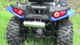 1. Speedwerx / Hot Seat Performance - Slip-On Exhaust - 2011 Polaris Sportsman 850 XP/EPS Touring