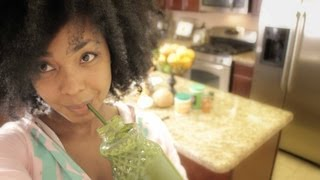 Lose Weight Gain Health & Great Skin- How To Make a Delicious Green Smoothie Recipe - YouTube