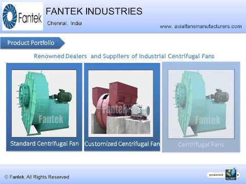 Industrial Axial & Centrifugal Fan Manufacturers from India