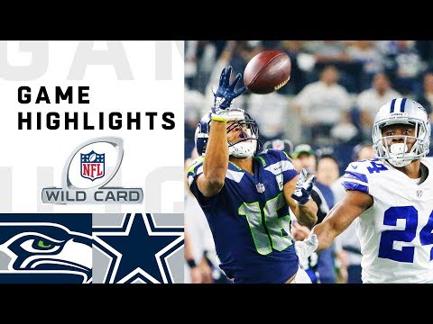 Seahawks vs. Cowboys Wild Card Round Highlights  NFL 2018 Playoffs