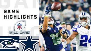 Seahawks vs. Cowboys Wild Card Round Highlights | NFL 2018 Playoffs