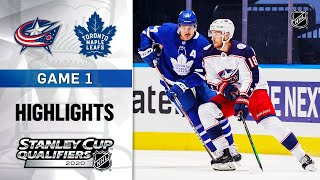 NHL Highlights | Blue Jackets @ Maple Leafs, GM1 - Aug. 2, 2020 by NHL