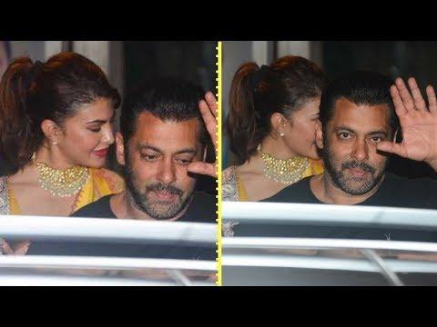Salman Khan Arrives With Jacqueline Fernandez At S