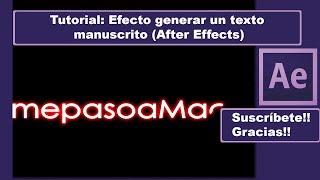 En este tutorial vemos como generar un texto manuscrito íntegramente con After Effects, podemos generar el texto que queramos proporcionando la sensación de ser escrito a mano.
