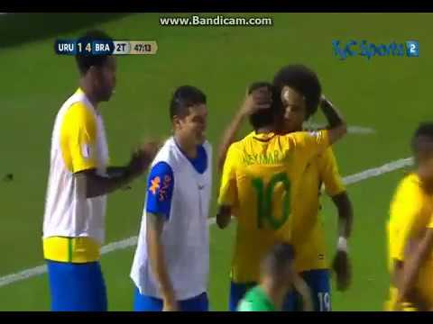 Uruguay vs Brasil (1-4) Eliminatorias Sudamericanas Rusia 2018 - Fecha 13