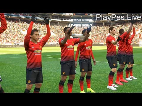 PES 2019 - MANCHESTER UNITED Vs BRIGHTON & HOVE ALBION - Full Match & Amazing Goals - PC Gameplay