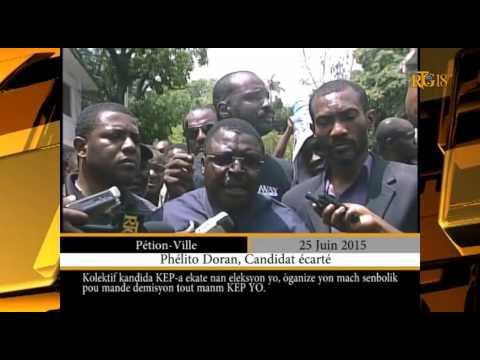 Haïti - Le Collectif des candidats exclus organise réclame la démission