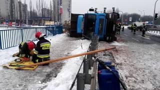 Polscy strażacy w akcji.