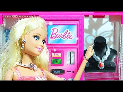 Куклы Барби Игрушечный шкаф - автомат для одежды Барби Видео для девочек н… видео