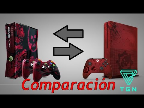 Comparacion Entre Xbox 360 Slim y Xbox One S | Ediciones Gears of War (видео)