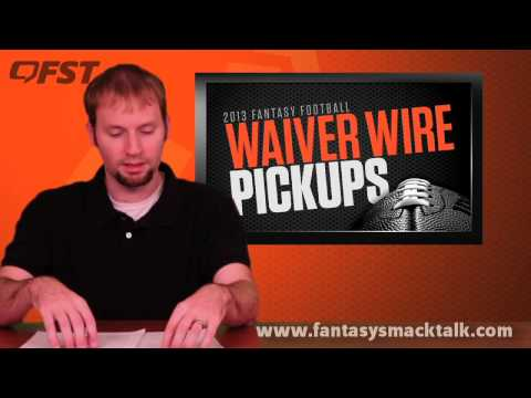 2013 Fantasy Football – Waiver Wire Week 12