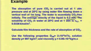 Mod-02 Lec-03 Mass Transfer co-efficient in Laminar Flow Condition