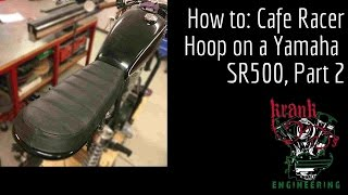 6. How to install a cafe racer frame hoop on a Yamaha SR400 - part 2