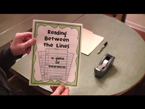 Inference Activity (First Grade, Second Grade, and Third Grade Reading Lesson)