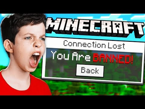 I BANNED MY LITTLE BROTHER ON MY MINECRAFT SERVER!