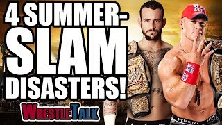 4 WWE Summerslam disasters in this WrestleTalk video...Subscribe to WrestleTalk for daily WWE and wrestling news! https://goo.gl/WfYA12Support WrestleTalk on Patreon here! http://goo.gl/2yuJpoDave Meltzer on there being a lot of talk about Austin not doing the job for Triple H - http://members.f4wonline.com/wrestling-observer-newsletter/august-30-1999-wrestling-observer-newsletter-wwf-summerslam-review Dave Meltzer on Shawn Michaels getting into Triple H's ear - http://members.f4wonline.com/wrestling-observer-newsletter/august-30-1999-wrestling-observer-newsletter-wwf-summerslam-reviewDave Meltzer on Steve Austin agreeing to put over Triple H - http://members.f4wonline.com/wrestling-observer-newsletter/august-30-1999-wrestling-observer-newsletter-wwf-summerslam-reviewDave Meltzer thinks the finish of Summerslam 2010 made no sense - http://members.f4wonline.com/wrestling-observer-newsletter/august-23-2010-observer-newsletter-lance-cade-death-summerslam Dave Meltzer on the surprise finish of Mankind winning the WWF Championship - http://members.f4wonline.com/wrestling-observer-newsletter/august-30-1999-wrestling-observer-newsletter-wwf-summerslam-review Bryan Alvarez's review of Summerslam 2010 - http://members.f4wonline.com/figure-four-weekly/aug-17-2010-figure-four-weekly-summerslam-danielson-return-cade-death-strikeforce Kurt Angle says his concussions stopped the love triangle storyline - https://www.youtube.com/watch?v=H94ACXLrNXYDave Meltzer says Triple H put an end to the love triangle storyline because it wasn't believeable - https://twitter.com/davemeltzerWON/status/840040504091918337Bryan Alvarez reveals the CM Punk storyline isn't the most important thing in WWE in 2011 - http://members.f4wonline.com/figure-four-weekly/july-26-figure-four-weekly-return-cm-punk-constant-story-changes-summerslam-all Dave Meltzer on Kevin Nash vs CM Punk match being pulled, Wrestling Observer Newsletter 2011 - http://members.f4wonline.com/wrestling-observer-newsletter/sept-5-2