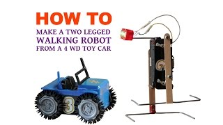 "Hi guys, This is another two legged walking robot tutorial video. In this tutorial I will be showing you another method to build a two legged walking robot. Music in this video:""Rollin at 5"" Kevin MacLeod (incompetech.com) Licensed under Creative Commons: By Attribution 3.0http://creativecommons.org/licenses/by/3.0/""George Street Shuffle"" Kevin MacLeod (incompetech.com) Licensed under Creative Commons: By Attribution 3.0http://creativecommons.org/licenses/by/3.0/Follow me on:Facebook: https://www.facebook.com/Homemade.RobotsGoogle+: https://plus.google.com/+galopante78/Peace and Love"