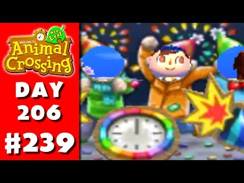 Animal Crossing: New Leaf - Part 239 - New Year's Day (Nintendo 3DS Gameplay Walkthrough Day 206)