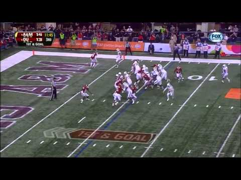 Jake Matthews vs Oklahoma (2012 Bowl) video.
