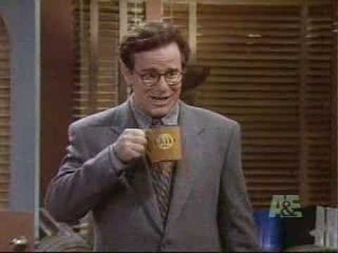 A clip from NewsRadio, one of the most underrated sitcoms of the '90s - Bill (Phil Hartman) quits smoking
