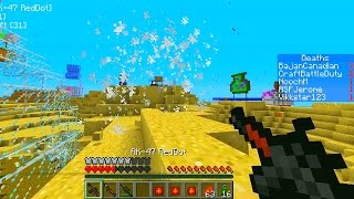 Minecraft GUN MOD DEATHMATCH #1 (Bikini Bottom) with Vikkstar&Friends!