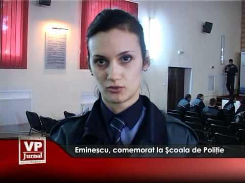 Eminescu, comemorat la şcoala de Poliţie