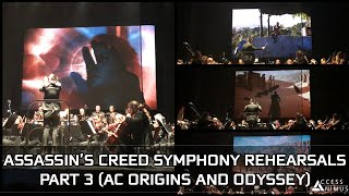 Assassin's Creed Symphony Rehearsals - PART 3 (AC Origins and Odyssey)