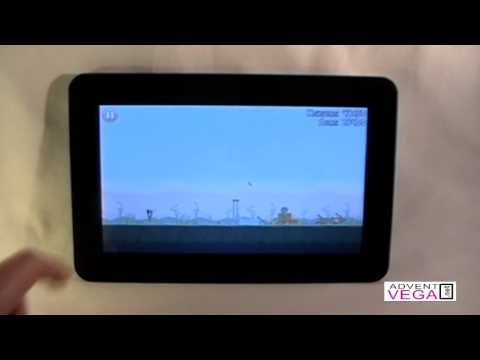 Demo of Angry Birds Game on the Advent Vega Tablet PC
