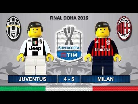 Supercoppa Italiana 2016 • Juventus vs Milan • Italy Super Cup TIM • Lego Football Highlights